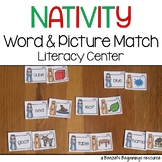 Nativity Word & Picture Match Literacy Center