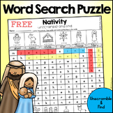 Christmas Nativity Word Search Puzzle - Unscramble and Find