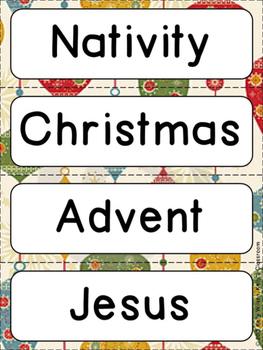 Nativity Word Wall -- Upper Elementary