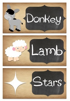 Nativity Word and Vocabulary Wall