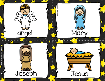 Nativity Write the Room (Plus Beginning Sound And Missing Vowel Cards)