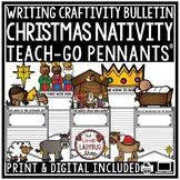Christian Christmas Nativity Activities Craft Bulletin Board Teach-Go Pennants