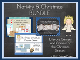 Nativity and Christmas Literacy Learning Centers BUNDLE