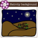 Nativity background digital Clipart (color and black&white)