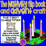 Nativity flip book and Advent Crown craft