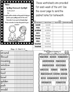 Nat'l Geographic REACH Spelling and Vocab Homework/Stations Gr 2-Unit 4-Week 3-4