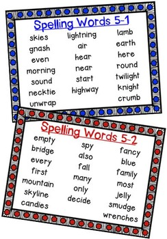 Nat'l Geographic REACH Spelling and Vocab Homework/Stations Gr 2-Unit 5-Week 1-2