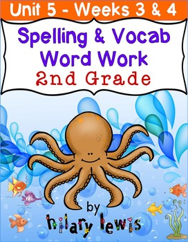 Nat'l Geographic REACH Spelling and Vocab Homework/Stations Gr 2-Unit 5-Week 3-4