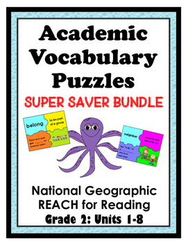 National Geographic Reach for Reading Academic Vocab Puzzles:Grade 2 - Units 1-8