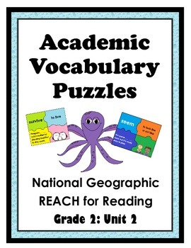 National Geographic Reach for Reading Academic Vocab Puzzles: Grade 2 - Unit 2