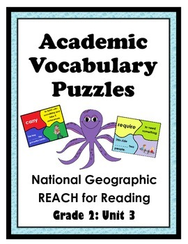 National Geographic Reach for Reading Academic Vocab Puzzles: Grade 2 - Unit 3