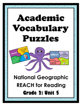 National Geographic Reach for Reading Academic Vocab Puzzles: Grade 2 - Unit 5