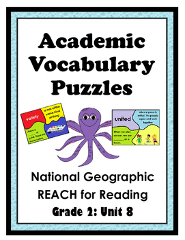 National Geographic Reach for Reading Academic Vocab Puzzles: Grade 2 - Unit 8