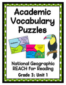 National Geographic Reach for Reading Academic Vocab Puzzles: Grade 3 - Unit 1