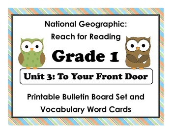 National Geographic Reach-Reading: Grade 1 - Unit 3 Bulletin Board & Vocab Cards