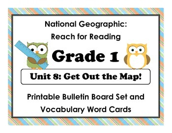 National Geographic Reach-Reading: Grade 1 - Unit 8 Bulletin Board & Vocab Cards