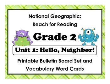 National Geographic Reach-Reading: Grade 2 - Unit 1 Bullet