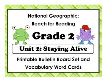 National Geographic Reach-Reading: Grade 2 - Unit 2 Bulletin Board & Vocab Cards
