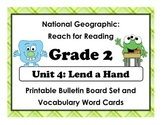 National Geographic Reach-Reading: Grade 2 - Unit 4 Bulletin Board & Vocab Cards