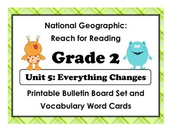 National Geographic Reach-Reading: Grade 2 - Unit 5 Bulletin Board & Vocab Cards