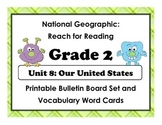 National Geographic Reach-Reading: Grade 2 - Unit 8 Bulletin Board & Vocab Cards
