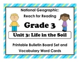 National Geographic Reach-Reading: Grade 3 - Unit 3 Bulletin Board & Vocab Cards