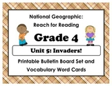 National Geographic Reach-Reading: Grade 4 - Unit 5 Bulletin Board & Vocab Cards
