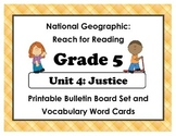 National Geographic Reach-Reading: Grade 5 - Unit 4 Bulletin Board & Vocab Cards