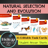 Natural Selection and Evolution Task Cards