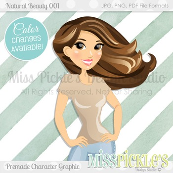 Natural Beauty 001, Personal and Commercial Use Character Graphic