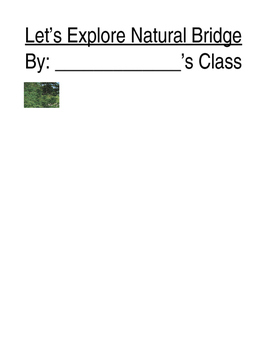 Natural Bridge Class Book Cover