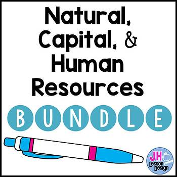 Natural, Capital, and Human Resources Activity BUNDLE