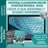 Natural Classroom Decor Starter Bundle- Blue