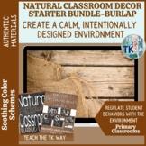 Natural Classroom Decor Starter Bundle-Burlap