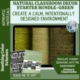 Natural Classroom Decor Starter Bundle -Green