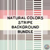 Natural Colors Stripe Background Bundle