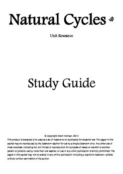 Natural Cycles Study Guide