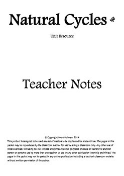 Natural Cycles Teacher Notes