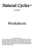Natural Cycles Worksheets
