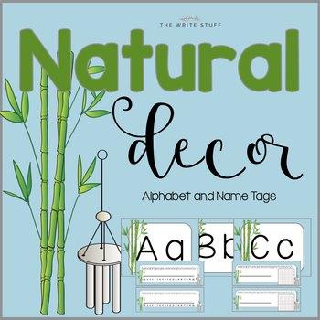 Classroom Decor Natural Alphabet