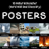 Natural Disaster 10 Posters with Word Wall and Glossary