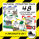 Natural Disaster Activities and Foldables - 4 Products in 1 - 48 Activities