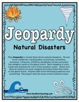 Natural Disaster Activity (JEOPARDY)