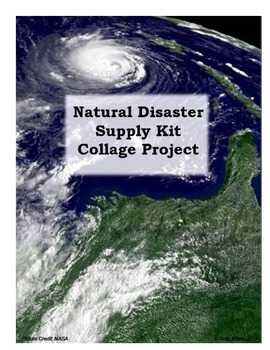 Natural Disaster Emergency Supply Kit Collage Project