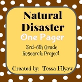 Natural Disaster One Pager and Research Project