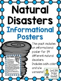 Natural Disaster Posters ~ Set of 14 Informational Posters