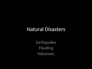 Natural Disaster PowerPoint