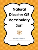 Natural Disaster QR Vocabulary Sort