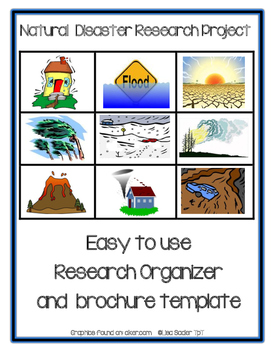Natural Disaster Research Organizer and  Brochure Template