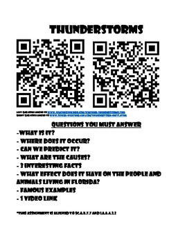 Florida Natural Disaster Station Cards using QAR codes